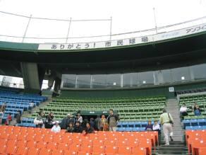市民球場内野席