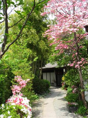 囲炉裏庵への玄関 長生館内にある「囲炉里庵 花水木」までの道 長生館の館内に入ると左側に...
