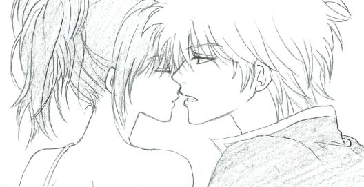 そういえば、銀妙で、2人とも目を閉じてるバージョンを描いたことがないような……