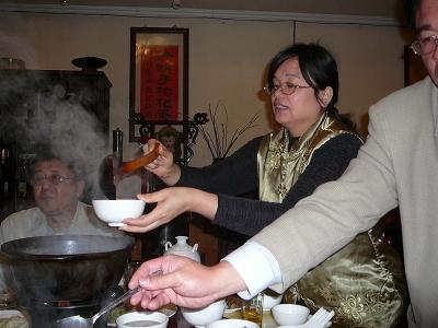 黒鶏スープ