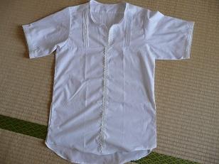 シャツ 彼の長袖Yシャツの襟元の汚れが落ちないので 私のシャツにアレンジしまし... Yシャツ