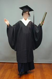 卒業式マント全身