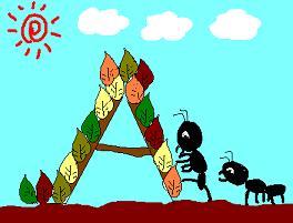 アリの滑り台〜〜♪