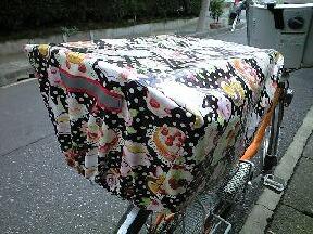 自転車の後ろかごカバーを ...