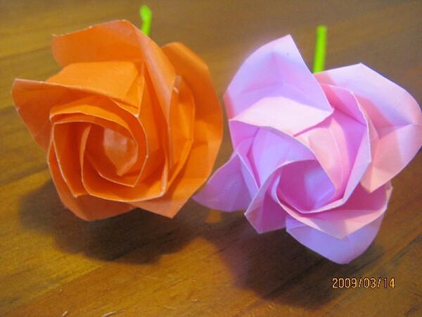 ハート 折り紙:達人折りのバラの折り紙-divulgando.net