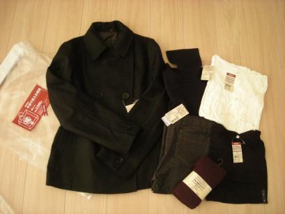 無印良品婦人SサイズGET! ブルゾン、シャツ、カーディガン、マフラー、手袋、帽子、タートルネック5000円の福袋なのに総額27400円分も入ってた。