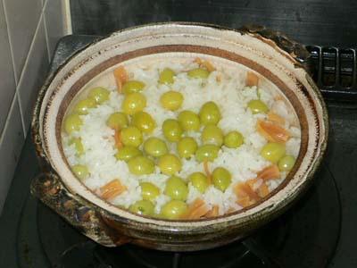 銀杏の土鍋炊き込みご飯