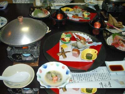 登別 清水屋 夕食2