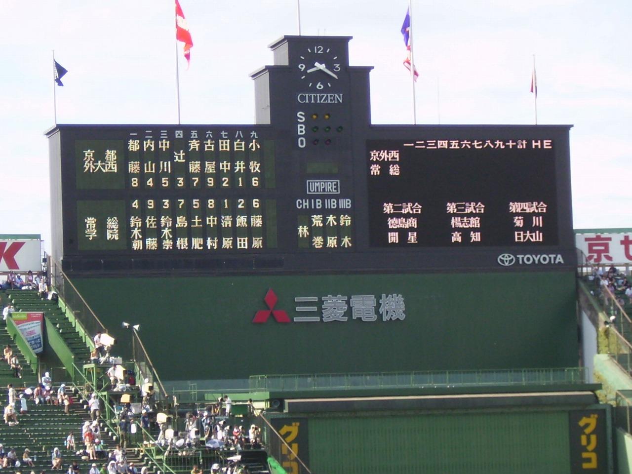 甲子園1 甲子園へ行ってきました。京都府代表の京都外大西高校の試合を見るためです...  京都の