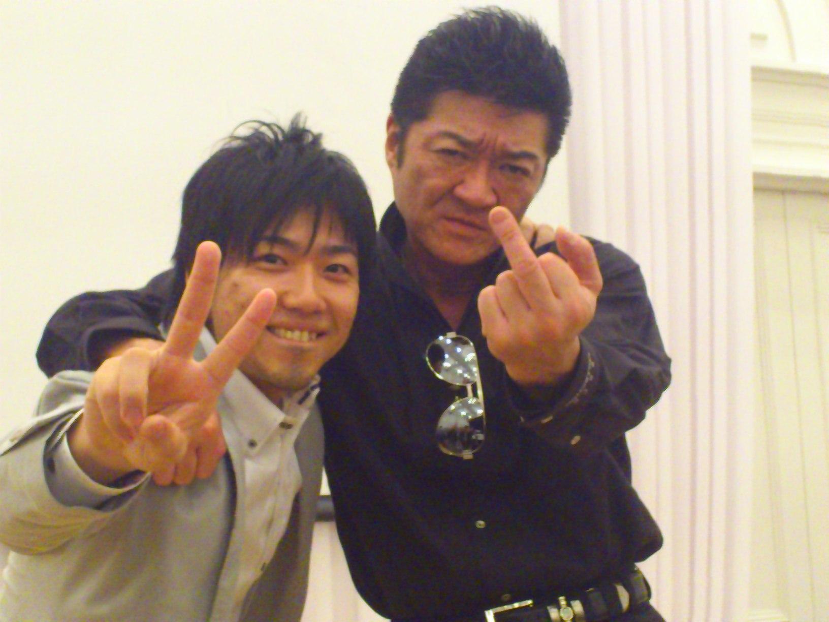 日山たかしと小沢仁志の2ショット写真