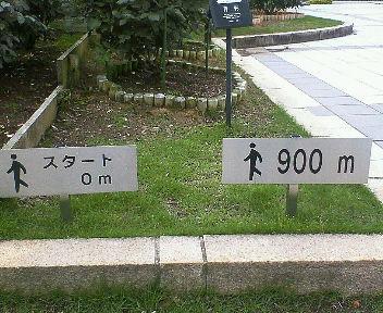これで1周が約900mと分かります