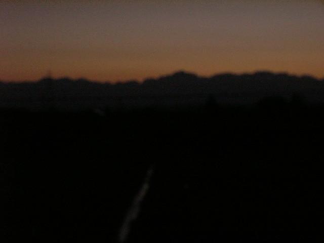 11月13日午前6時15分の北アルプス立山連峰