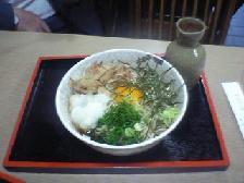 大阪中津で食べた田舎蕎麦 550円
