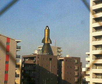 ロケットが屋上に!?