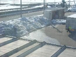 除雪した雪の壁2月19日