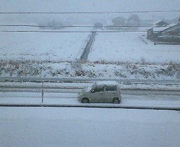 初雪がいきなり大雪になった・・・。