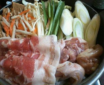 豚肉と鶏肉のちゃんこ鍋