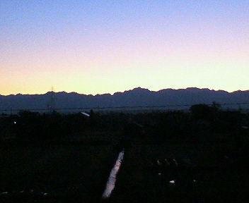 立山連峰の朝焼け、5時45分
