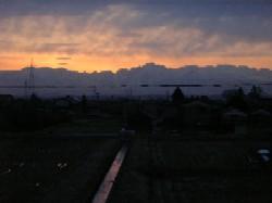 朝日に燃える剣岳