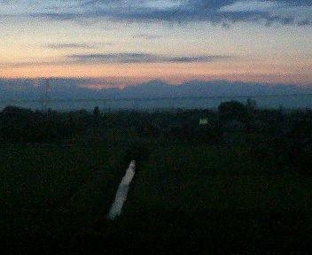 夜明け少し前の立山連峰