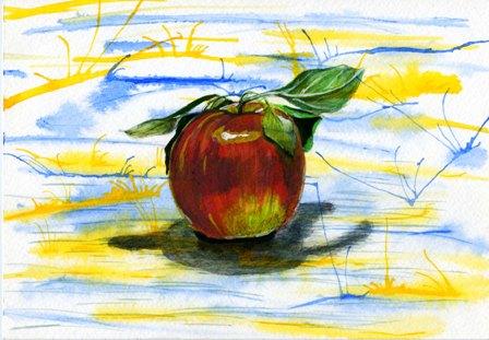 2000年の作品「リンゴ」