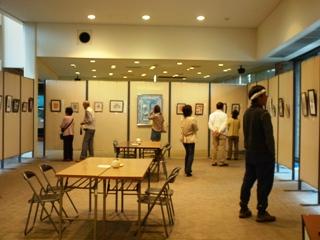 色鉛筆アート展初日