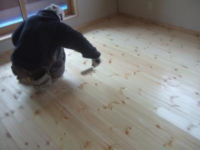 床自然塗装仕上げ