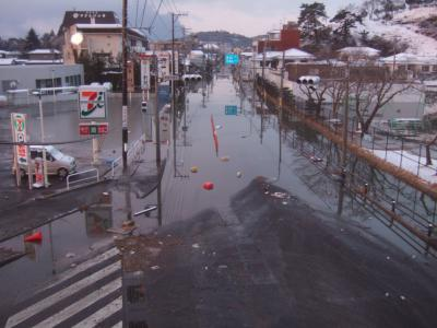 3.11地震の翌日松島
