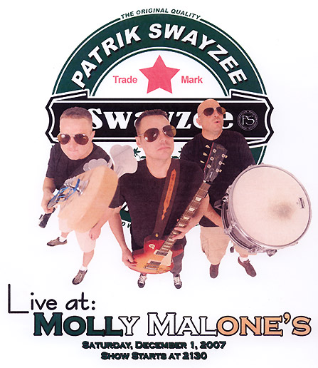 PATRIC SWAYZZE Live at MOLLY MALONES
