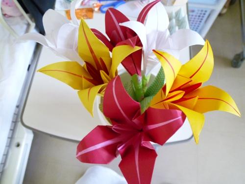 すべての折り紙 折り紙 バラの花束 : 折り紙 ゆりの花束 : 【折り紙 ...