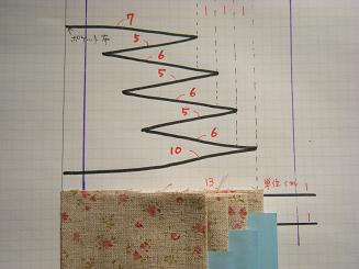 三つ折カードケースの作り方(1)