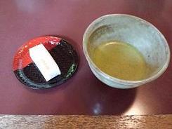 8抹茶と茶菓子