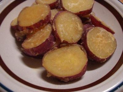 サツマイモの蜂蜜煮