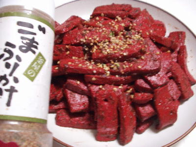 コンニャクの味噌炒め