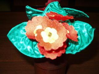 布の造花プリムラ