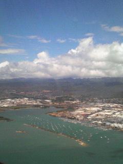 飛行機にてinハワイ