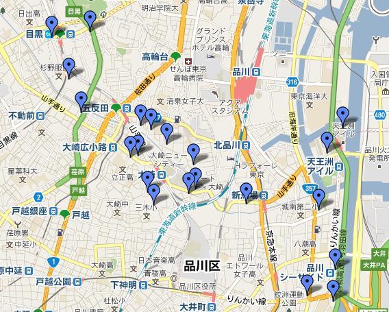 品川区タワーマンションマップ