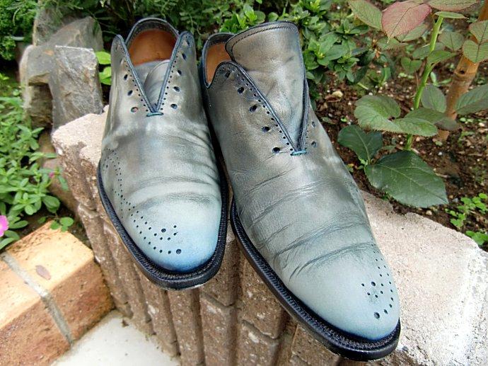 パティーヌ、脱色、染め替え、靴磨き、靴の色を変える