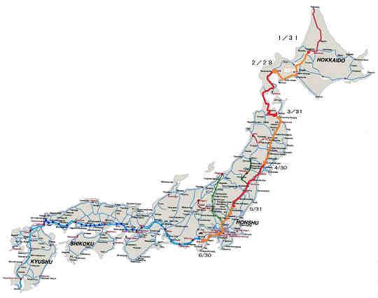 最北の稚内駅をスタート地点と ... : 日本新幹線地図 : 日本