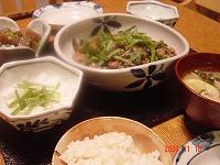 挽肉となすの炒め物