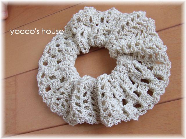 シュシュ かぎ針 編み