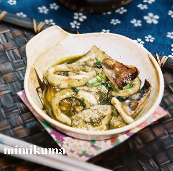 イカと豆腐のわた煮