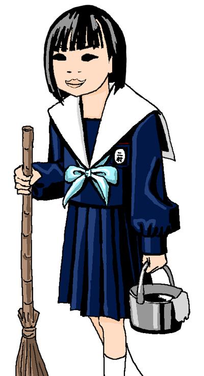 二村菜月 中学生日記 セーラー服 名古屋襟 女子中学生