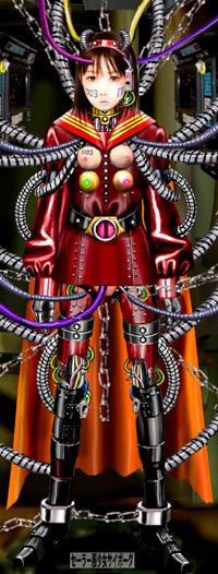 セーラーサイボーグ003 サイボーグ化されたセーラー服女子高生 メカ少女 メカ娘