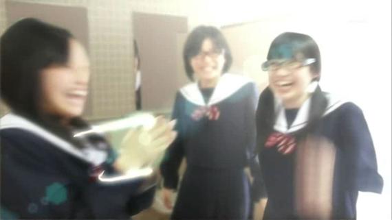 オープニング阿部祥子 中学生日記 名古屋襟セーラー服 女子中学生