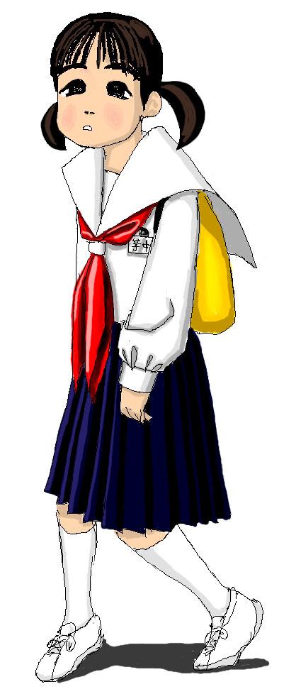 修学旅行芋 芋セラ セーラー服 女子中学生