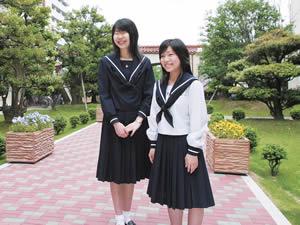 金城学院 日本最古のセーラー服 名古屋襟 女子中学生 女子高生