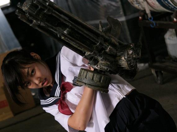 片腕マシンガール The Machine Girl 八代みなせ セーラー服 みなんChu