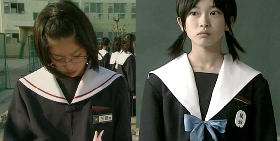 中学生日記新旧名古屋襟セーラー服比較胸部女子中学生