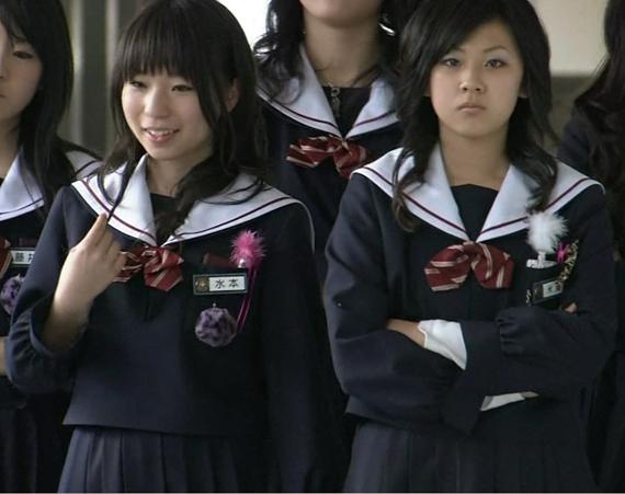 お助けリボン 水本彩紀 米澤 中学生日記 名古屋襟セーラー服 女子中学生